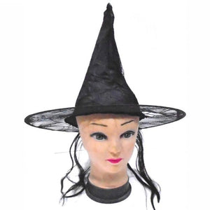 Witch Hat Black for Halloween, Fancy Dress - Black - Funzoop