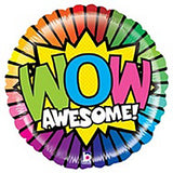 "18"" Wow Awesome Foil Balloon - Funzoop"