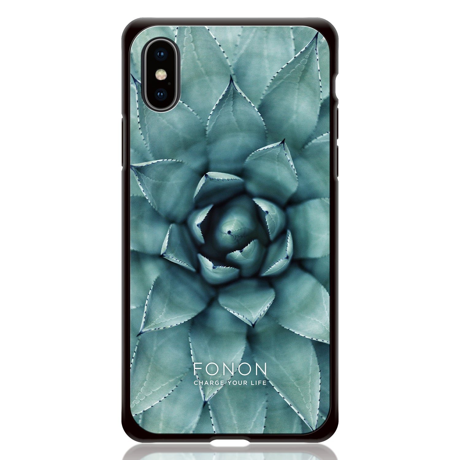 DAMPER GLASS iPhone CASE - BOTANICAL GARDEN - Cactus