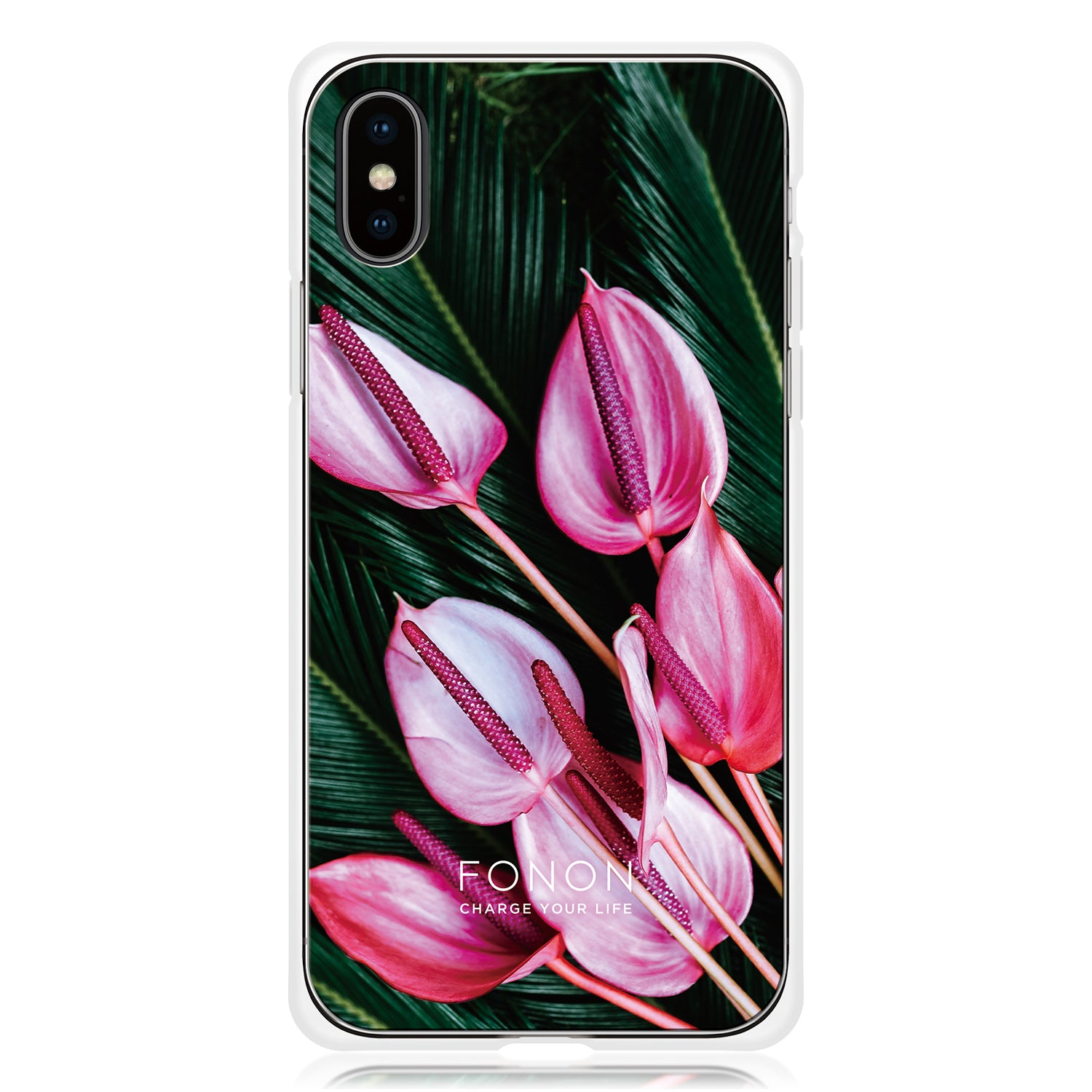DAMPER GLASS iPhone CASE - BOTANICAL GARDEN-Anthurium
