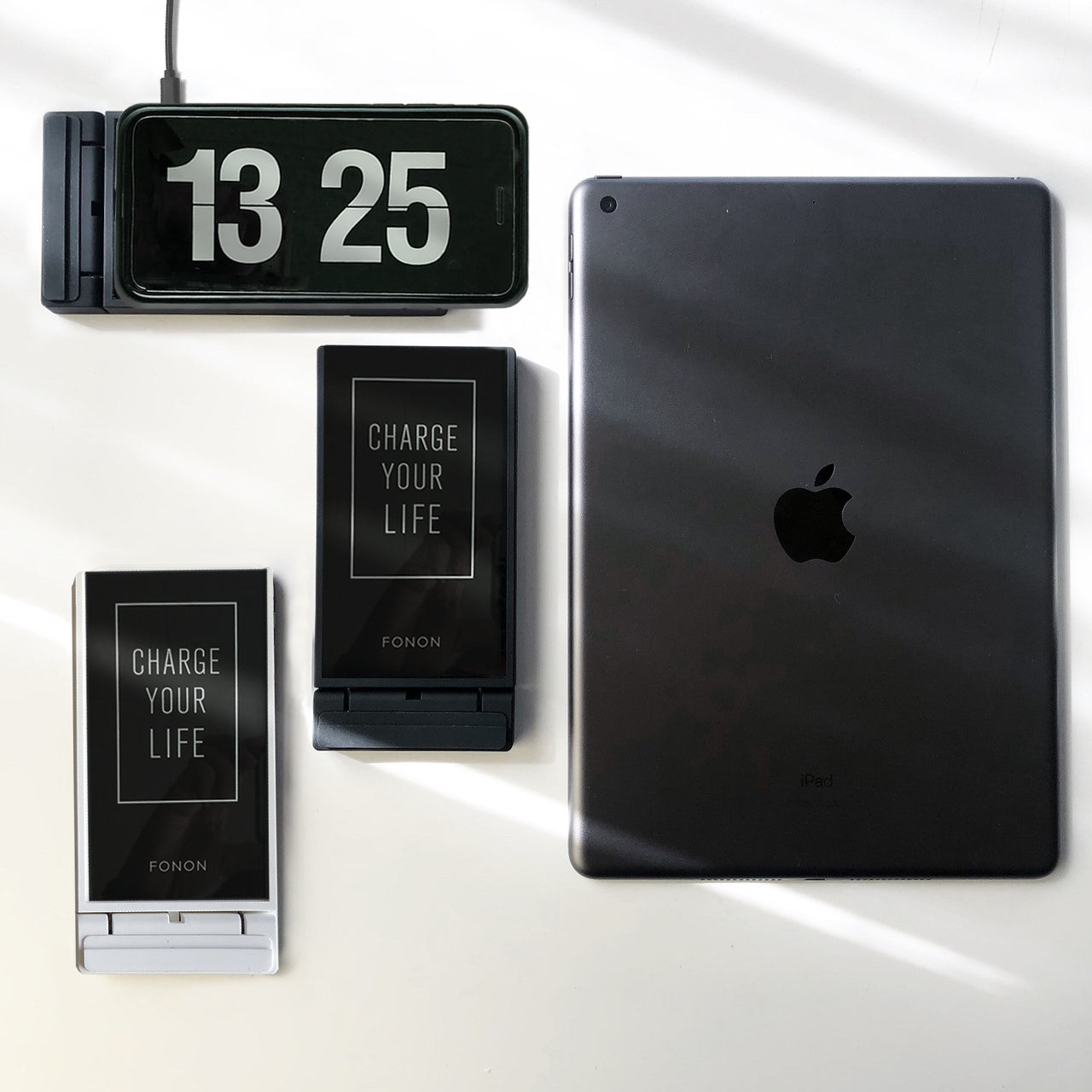 WIRELESS CHARGING STAND - TYPO SERIES - FONON CHARGE YOUR LIFE Black
