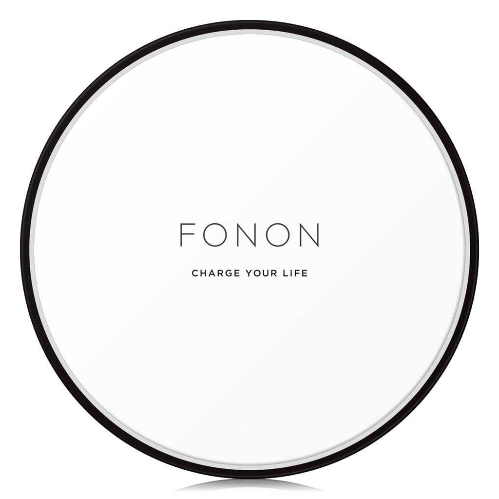 WIRELESS CHARGING BASE - TYPO SERIES - FONON CHARGE YOUR LIFE White
