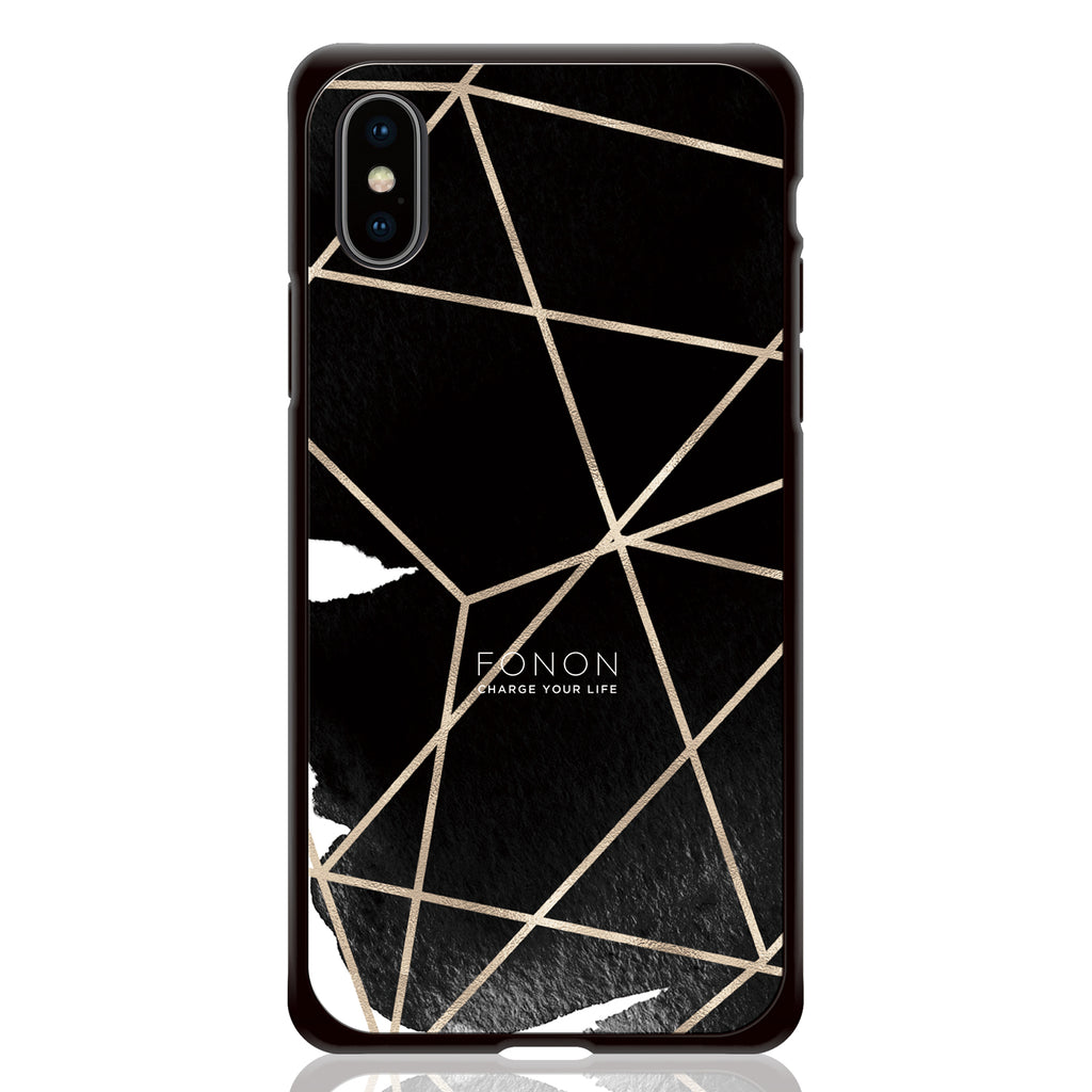 DAMPER GLASS iPhone CASE - GEOMETRIC PATTERN - CowSpider