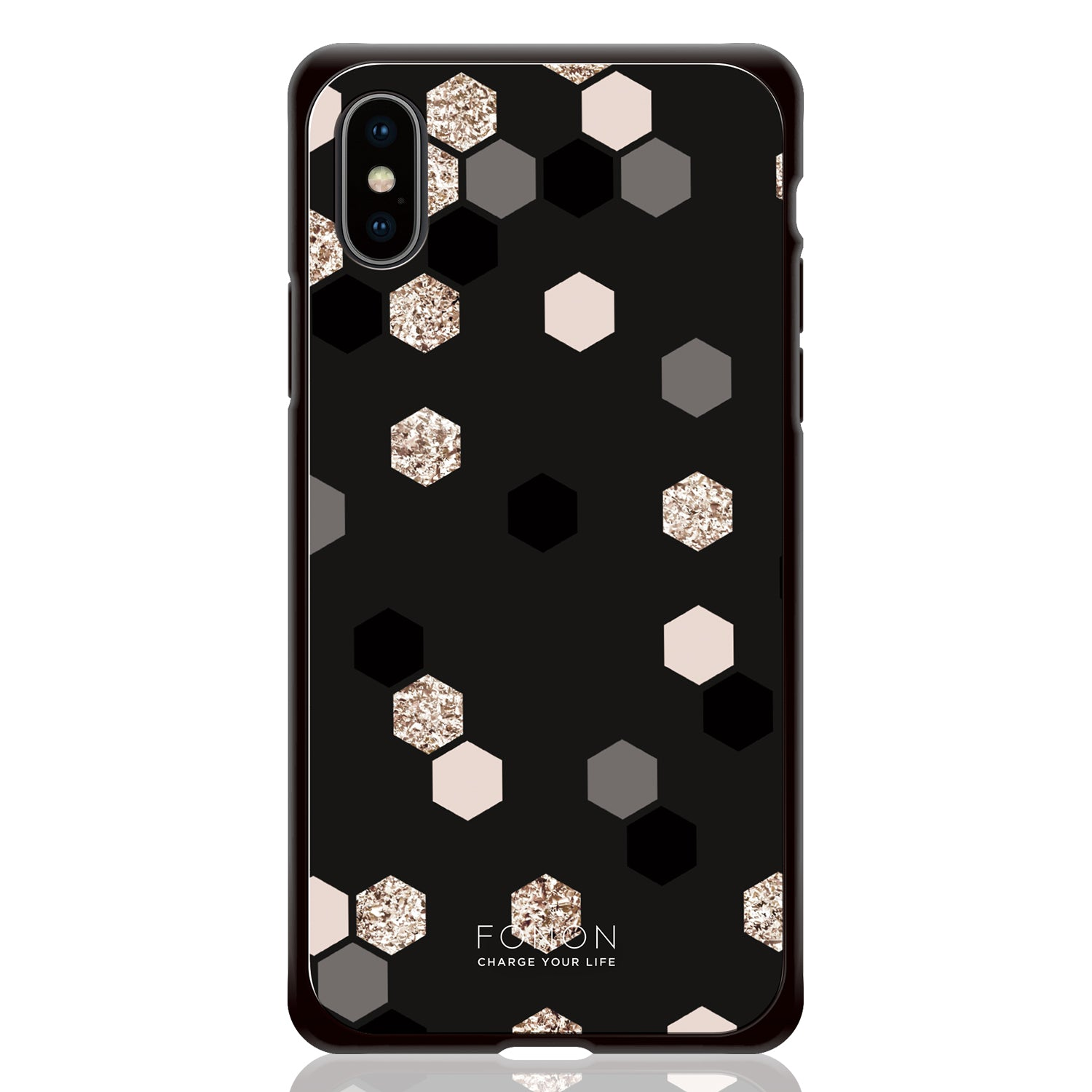 DAMPER GLASS iPhone CASE - GEOMETRIC PATTERN - Buzz