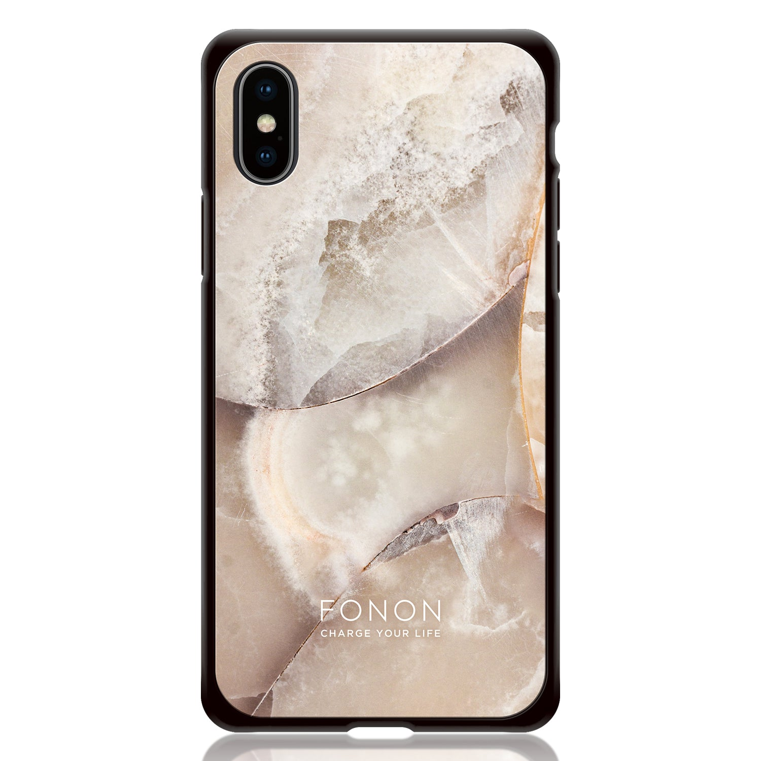 DAMPER GLASS iPhone CASE - STONE PLANET - White Opal