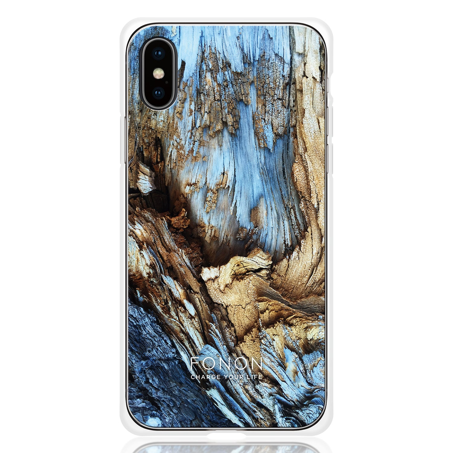 DAMPER GLASS iPhone CASE - STONE PLANET - Lava