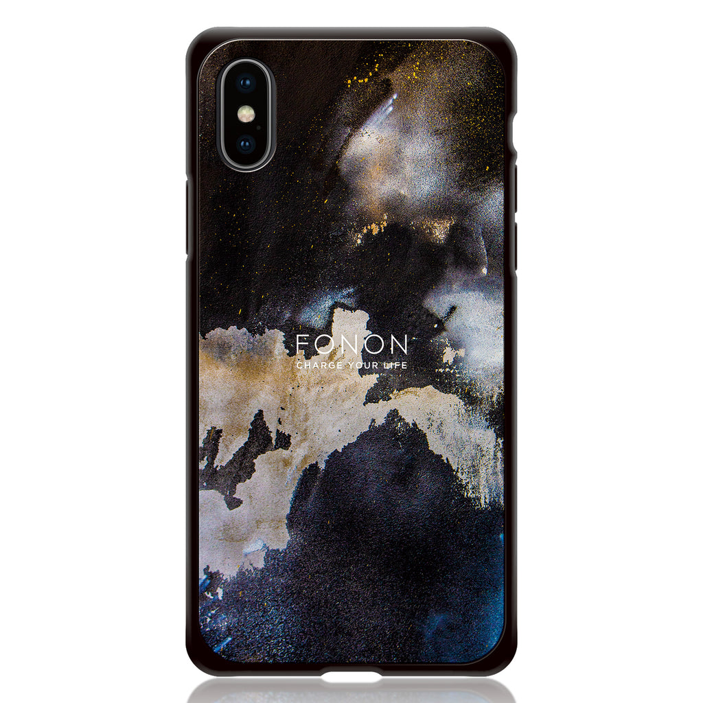 DAMPER GLASS iPhone CASE - STONE PLANET - Paint Wall BlackHall