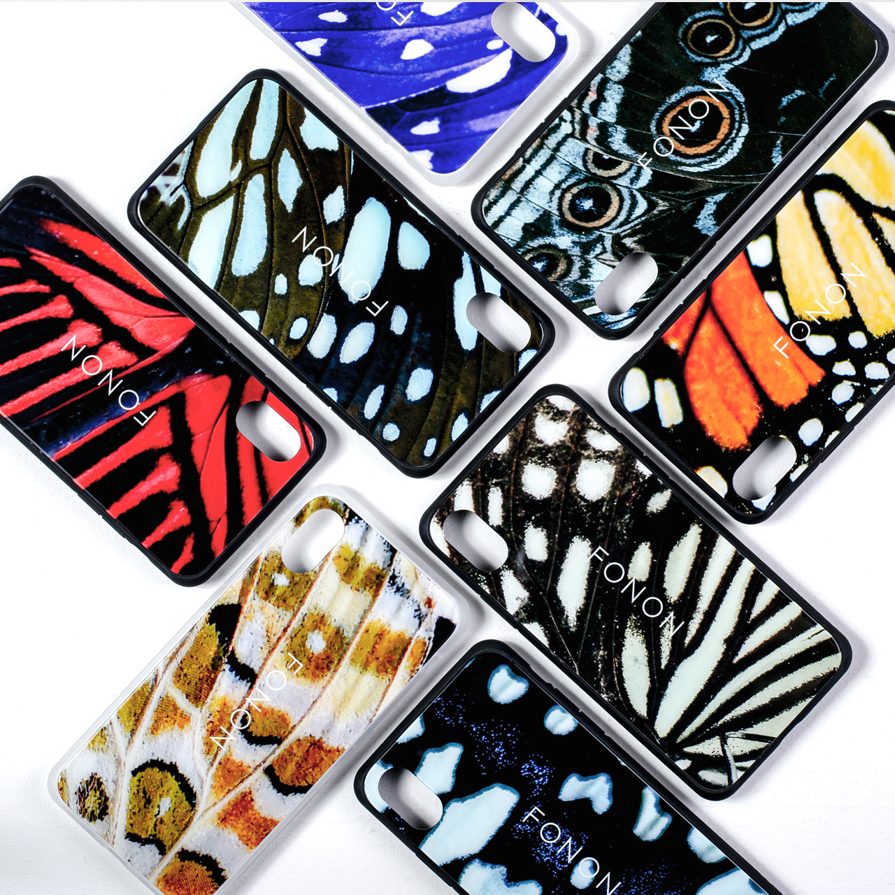 DAMPER GLASS iPhone CASE - ANIMALIA - Monarch