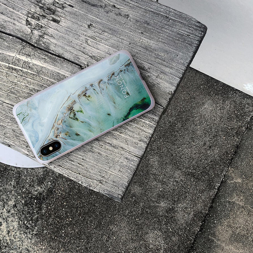 DAMPER GLASS iPhone CASE - STONE PLANET - Calcite