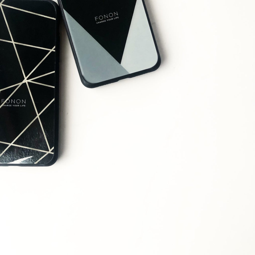 DAMPER GLASS iPhone CASE - GEOMETRIC PATTERN - Delta