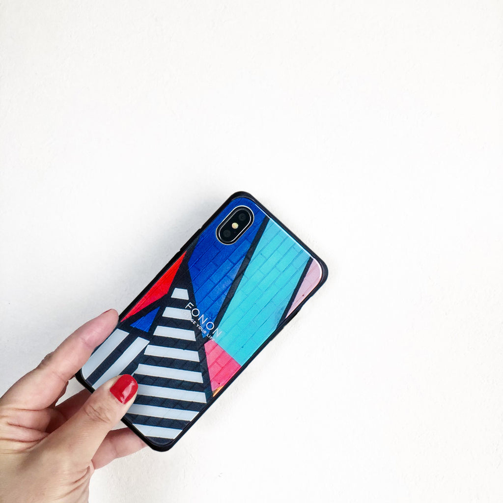 DAMPER GLASS iPhone CASE - PATTERN TRICK - Murals