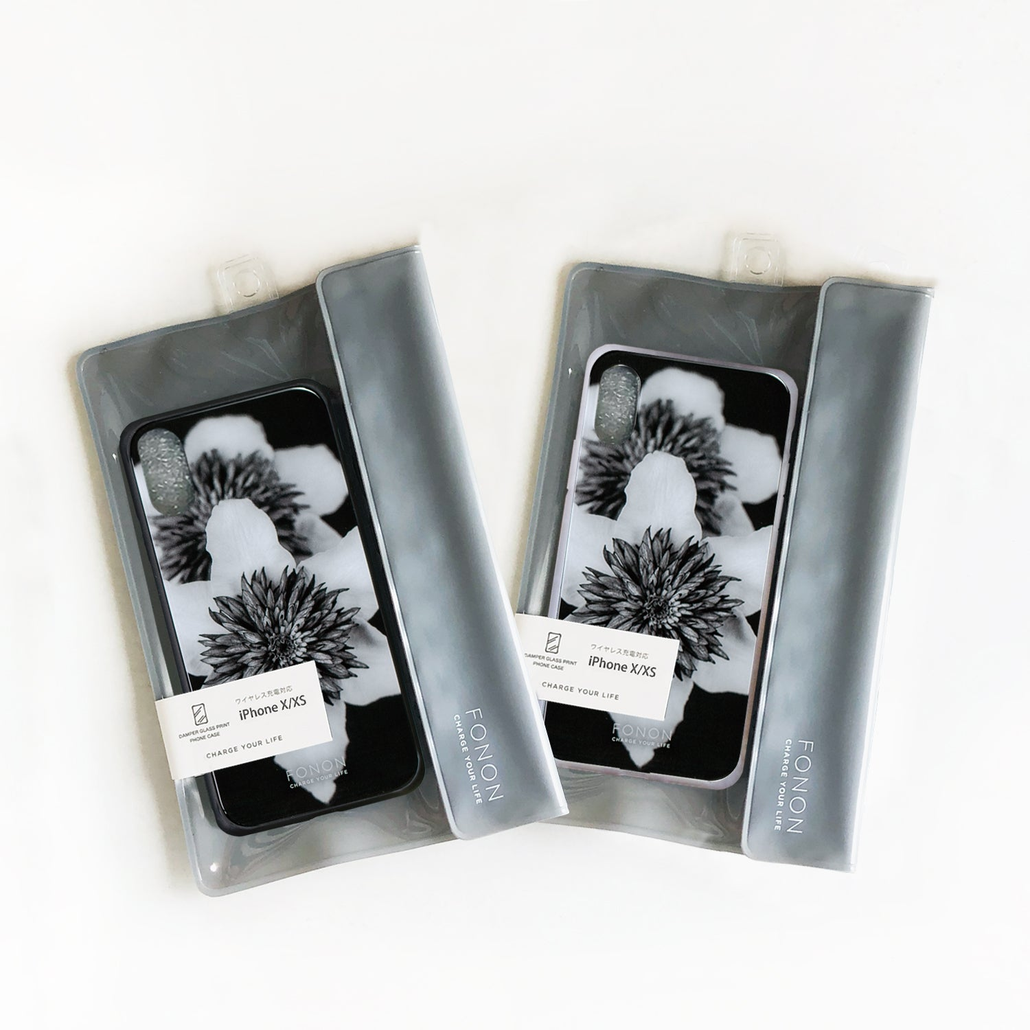 DAMPER GLASS iPhone CASE - FLORAL-Mono Flower