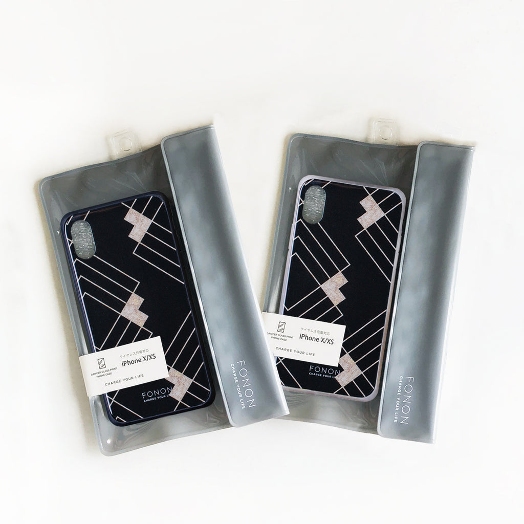 DAMPER GLASS iPhone CASE - GEOMETRIC PATTERN - Stiff