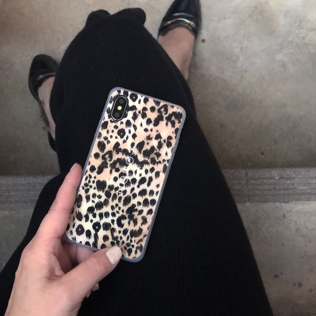DAMPER GLASS iPhone CASE - ANIMALIA - Panther