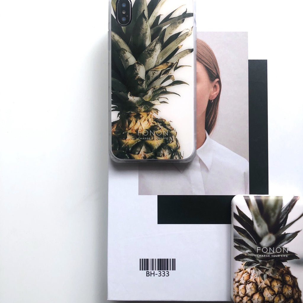 DAMPER GLASS iPhone CASE - BOTANICAL GARDEN - Pineapple