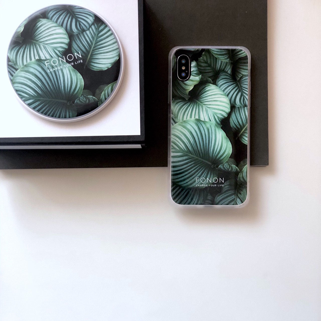 DAMPER GLASS iPhone CASE - BOTANICAL GARDEN - Unberata