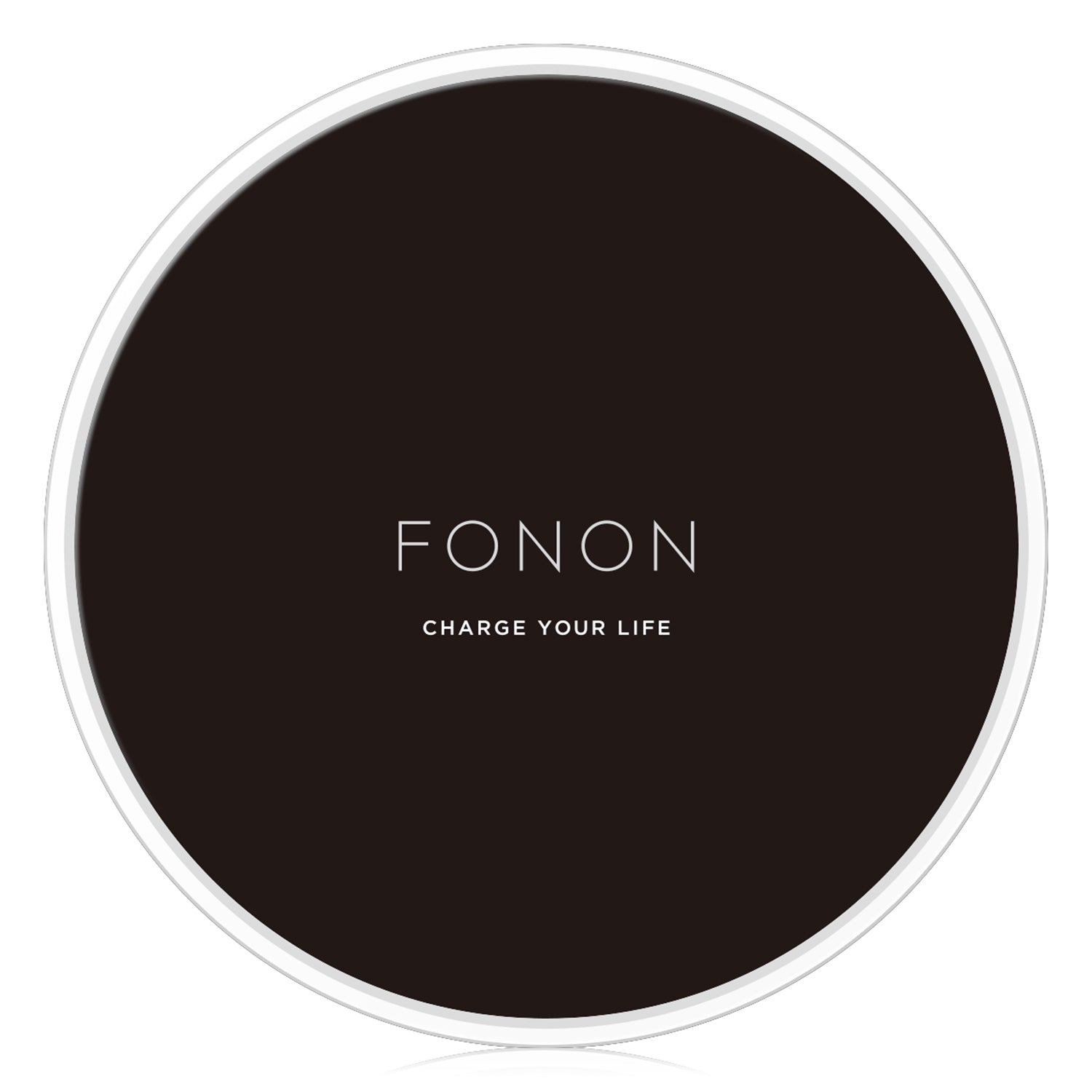 WIRELESS CHARGING BASE - TYPO SERIES - FONON CHARGE YOUR LIFE Black