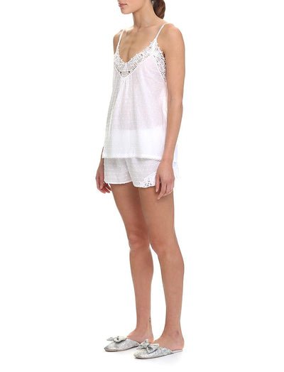 Swiss Dot White Camisole