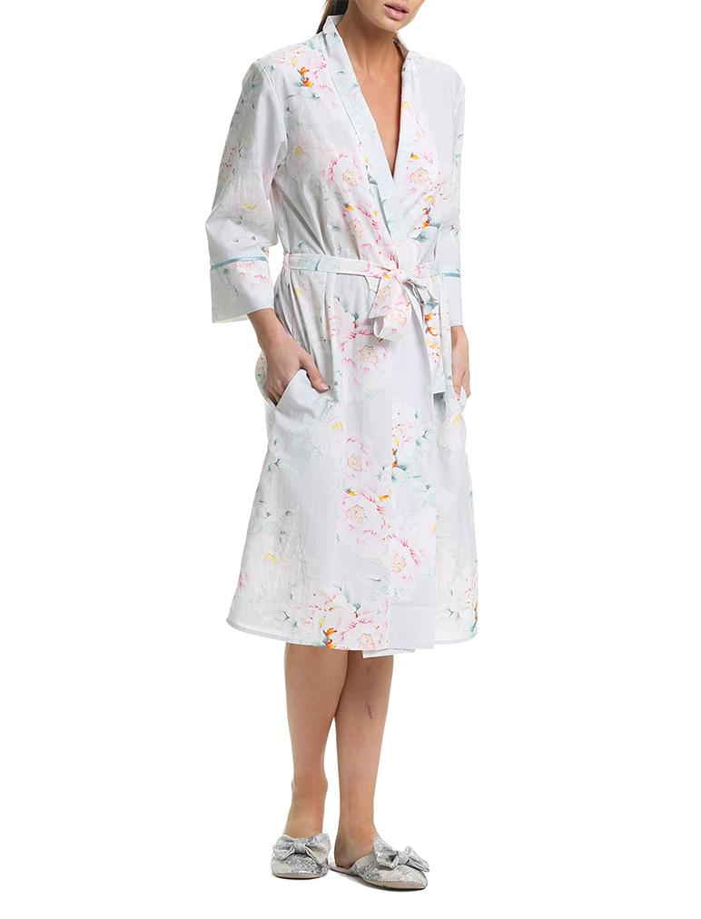 Adele Blue Mid-Length Robe
