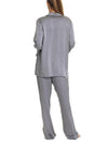 Charcoal Silk Pajamas Back