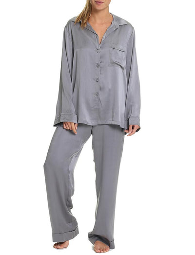 Charcoal Silk Pajamas