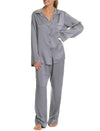 Charcoal Pure Silk Luxury Pajamas