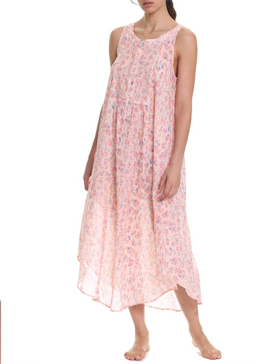 Cheetah Pink Maxi Panel Nightgown
