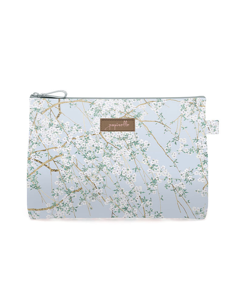 Cherry Blossom Blue Medium Cosmetic Bag