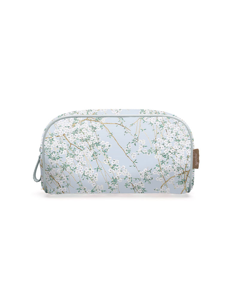 Cherry Blossom Blue Small Cosmetic Bag