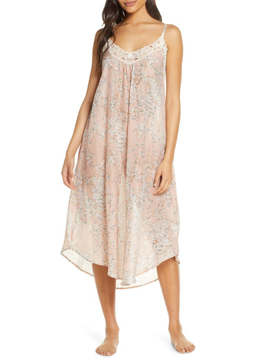 Cherry Blossom Blush Maxi Nightgown