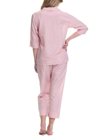 Classic Crop Pajama in Pink