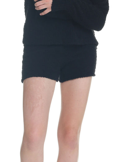 Cozy Knit Boxer in Black
