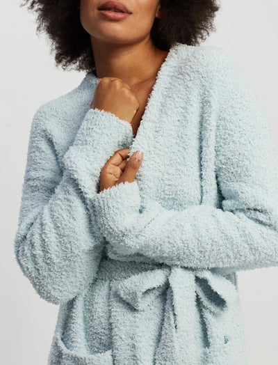Cozy Knit Cardigan in Powder Blue