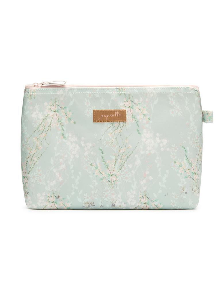 Falling Blossom Sage Medium Cosmetic Bag