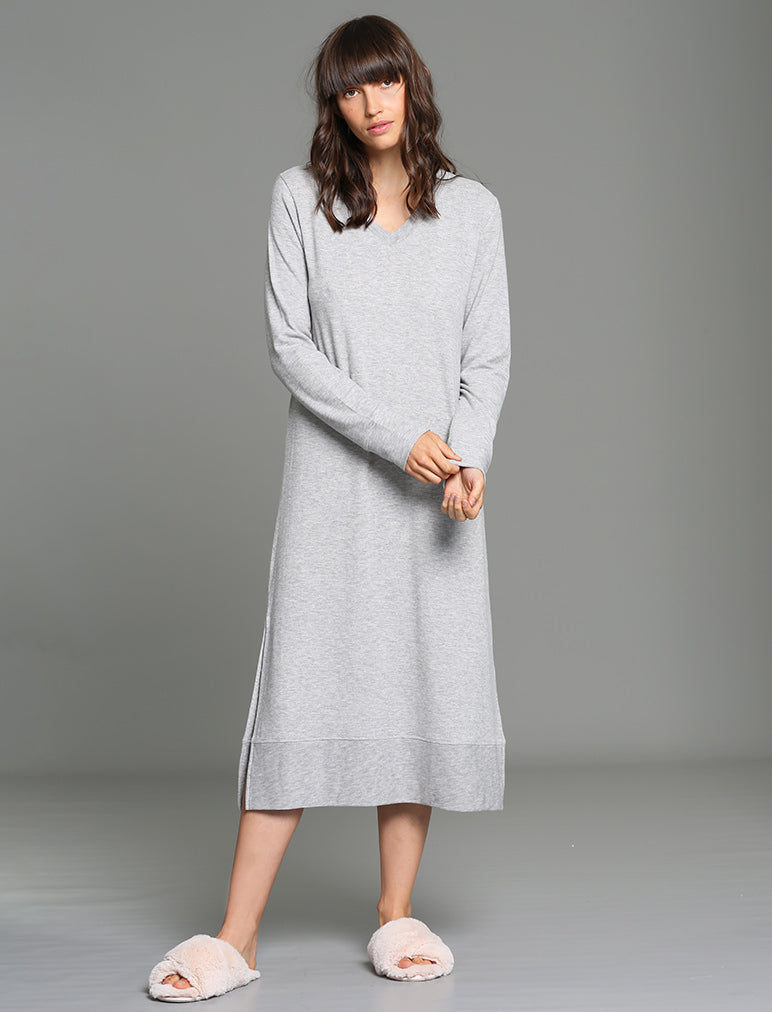 Feather Soft Nightgown in Grey