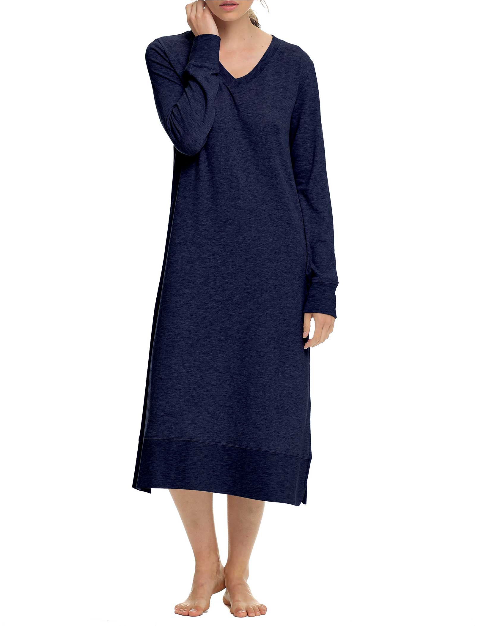 Feather Soft Nightgown in Navy