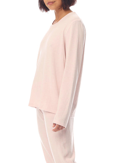 Feather Soft Long Sleeve Top in Light Pink