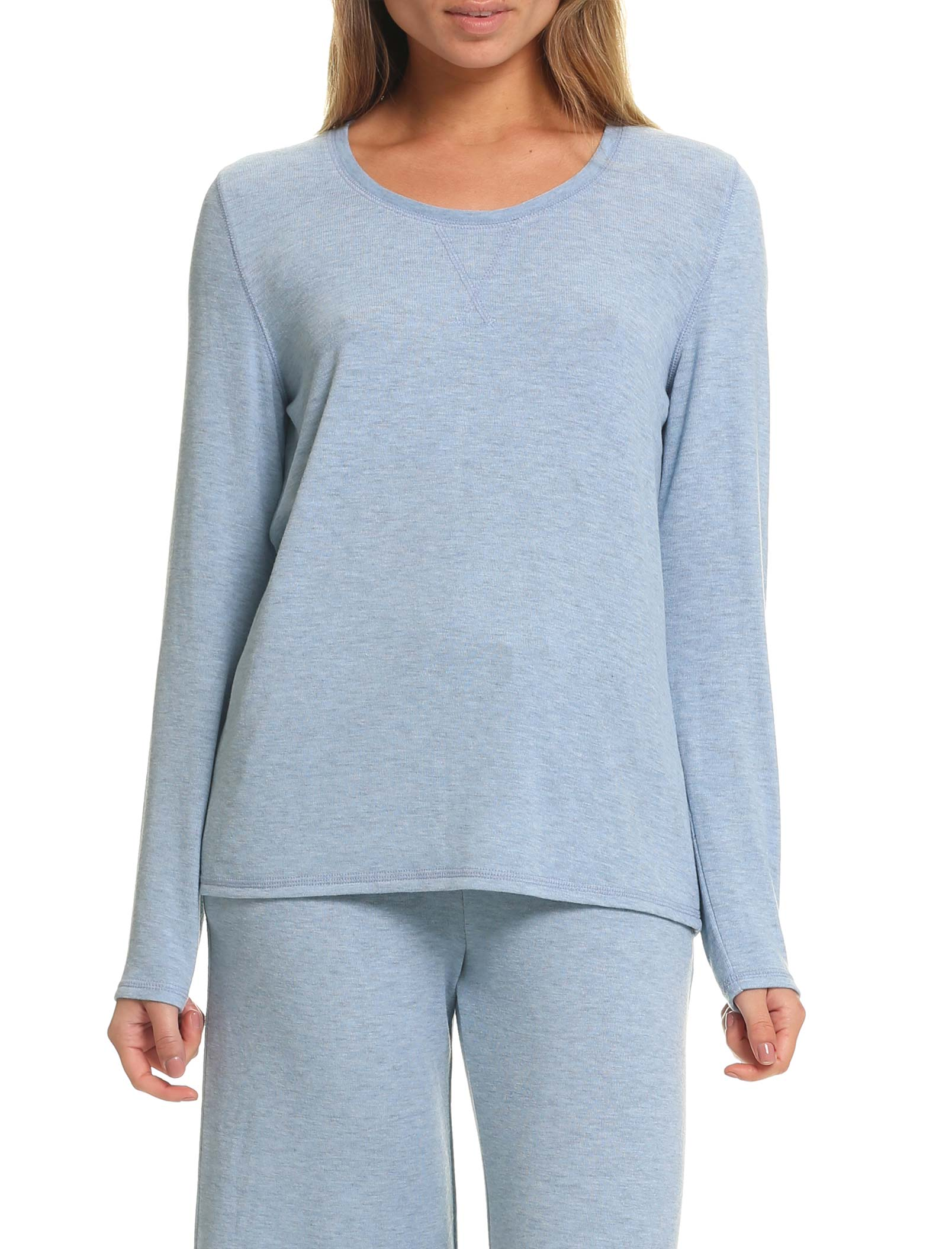 Feather Soft Long Sleeve Top in Powder Blue