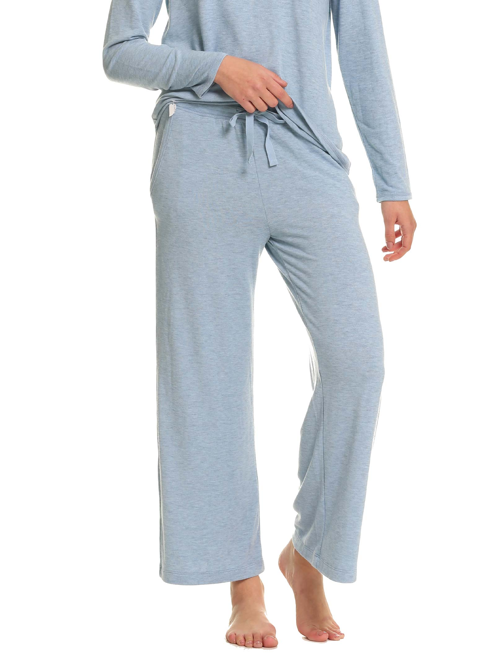 Feather Soft Wide Leg Pant in Powder Blue