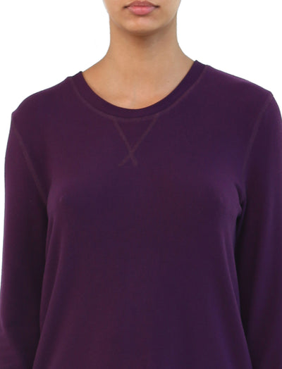 Feather Soft Long Sleeve Top in Prune