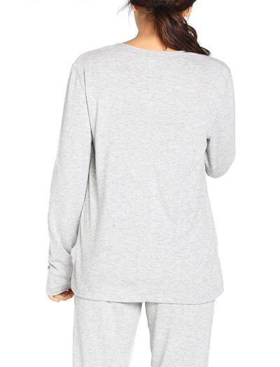 Feather Soft Long Sleeve Top in Grey