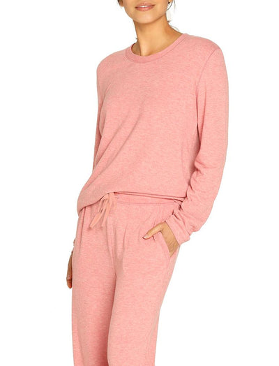 Feather Soft Long Sleeve Top, Pink