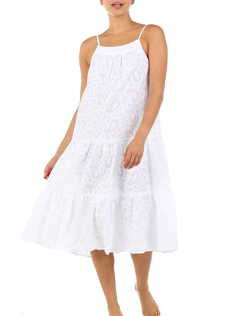 Dreamy Paisley Tiered Nightgown