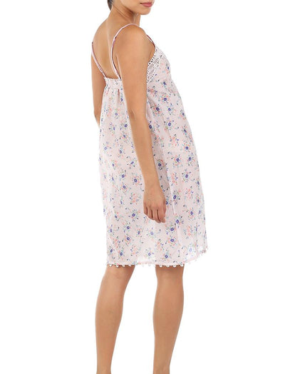 Iggy Pink Short Lace Front Nightgown