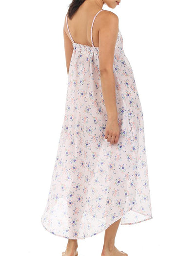 Iggy Pink Lace Front Maxi Nightgown Back