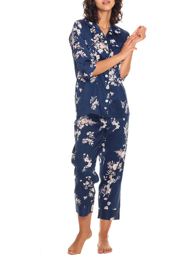 Jardin Navy Crop Pajama set