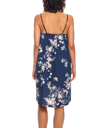 Jardin Navy Strappy Nightgown