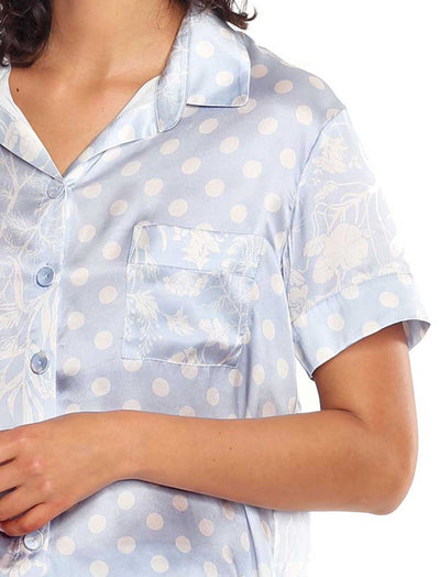 Karen Walker Spliced Ivy Boxer Pajama Set