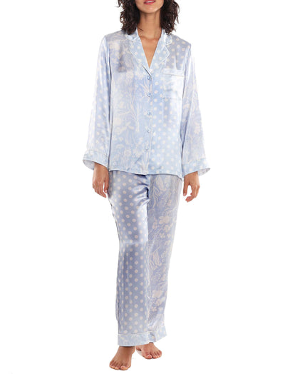 Karen Walker Spliced Ivy Pajama Set