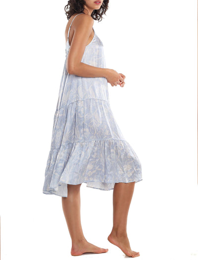 Karen Walker Spliced Ivy Tiered Nightgown